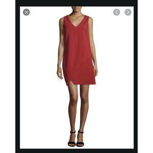 NWT Diane Von Furstenberg Jenn Red Shift Dress - 6